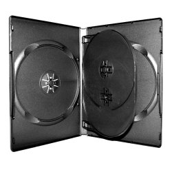 14mm Standard Black DVD Case (4 Discs with 1 Tray)