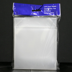 Crystal Clear Vinyl Sleeve CD/DVD Sleeves With Flap (Sold per Sleeve)