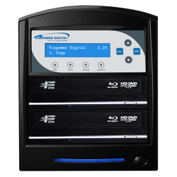 Hard Drive To 2 Target Duplicator with 12X LG Blu-ray Burner and 500G Hard  Drive & USB 3.0 Multi-File CopyConnect