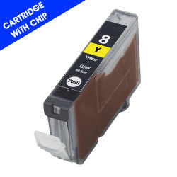 Canon CLI-8Y Remanufactured Yellow Inkjet Cartridge with Chip