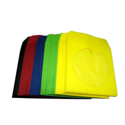 Assorted Color Paper CD Sleeves (Black/ Red/ Green/ Yellow/ Blue) - 20 Pack each Color