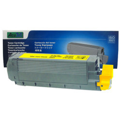 Okidata C6100N Series (43324417) High Yield Compatible Yellow Toner Cartridge