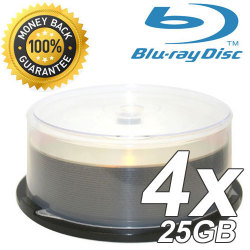4X Single Layer Write Once 25GB Blu-Ray Blank Disc