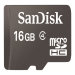 SanDisk 16GB MicroSD High Capacity Card with SD Adapter Retail