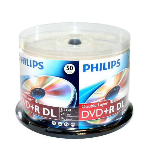 philips branded dual layer 8x dvd r dl blank disc. Black Bedroom Furniture Sets. Home Design Ideas