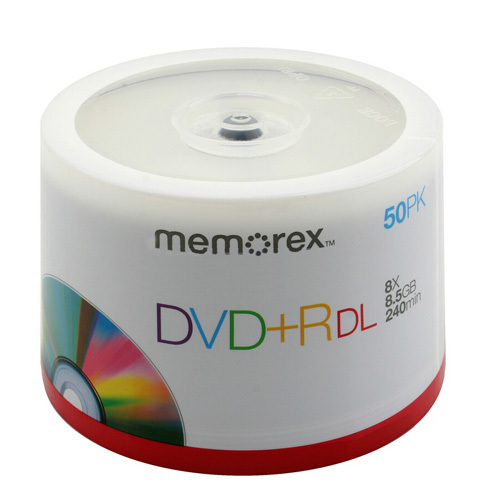 memorex 8x 8 5gb dual layer blank dvd r media. Black Bedroom Furniture Sets. Home Design Ideas