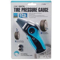 Shop4Tech - 2-In-1 Digital Tire Pressure and Tread Gauge - $8.16