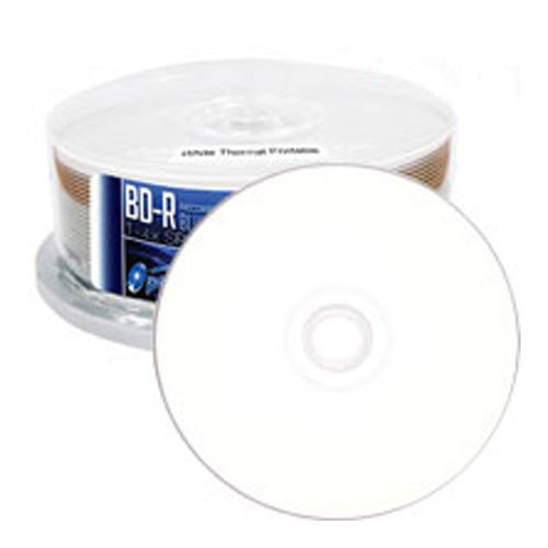 image regarding Printable Blu Ray Discs known as Optical Quantum White Thermal Hub Printable 6X Blu-ray Disc