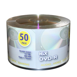 Silver Shiny Top 16X DVD-R Blank Media Discs