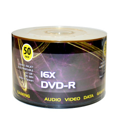White Inkjet Hub Printable 16X DVD-R Blank Media Discs