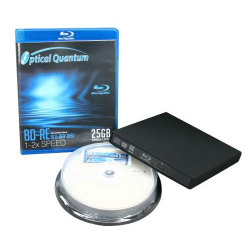 6X External Slim BLU-RAY, DVD, CD Burner Drive Combo Retail