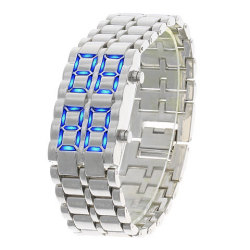 item 9688 1 250 Deal: Iron Samurai Inspired Blue LED Watch