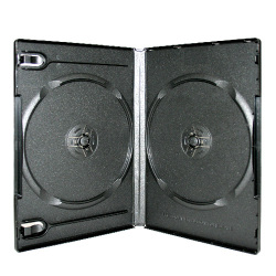 14mm Double Black Professional Grade DVD Case