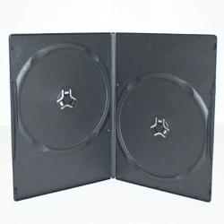 Premium Grade 7mm Double Slim Black DVD Cases - 100% New Material