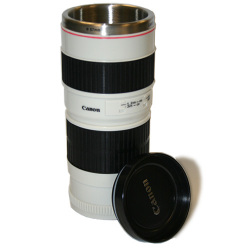 Canon 70-200mm 1:1 Lens Thermal Insulated Coffee Mug Cup